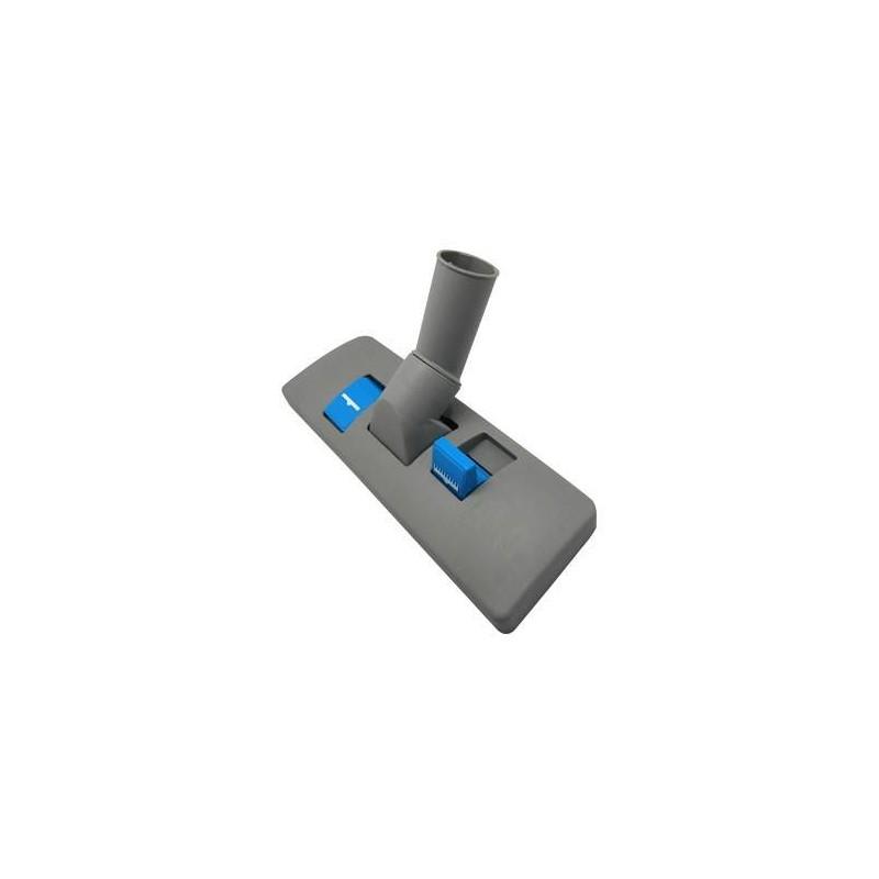 Cepillo suelo adaptable a aspirador Nilfisk ancho del cepillo 270mm diametro tubo 32mm color gris con pedales en azul