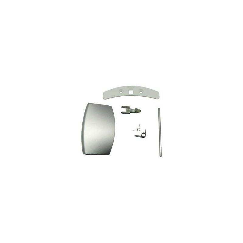 Kit maneta ojo de buey lavadora aeg 50289057007 maneta 21AE0033 + pestillo metalico pasador 2 muelles y ojo pestillo