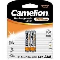 Pila Camelion Recargable AAA 1100 mah pack 2 unidades