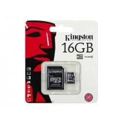 MEMORIA MICRO 16 GB SD KINGSTON+ADAPTADOR SD
