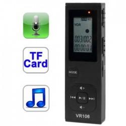GRABADORA DE VOZ Y MP3 DIGITAL SATYCON 4GB + TF