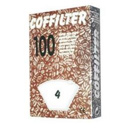 Filtro cafetera Universal - Moulinex 5012, 6009, 9 209, Nº 4. 100 FILTROS