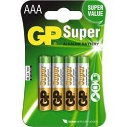 Pilas GP Super alkalina AAA 1,5v 4 UNIDADES
